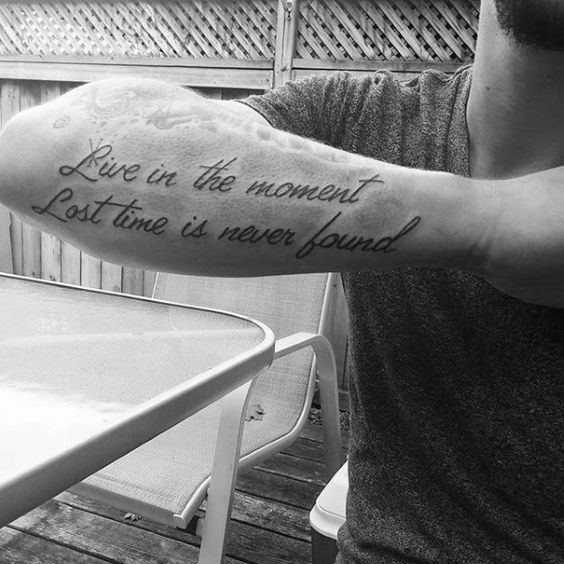 tattoo quotes for men on hand ideas.
